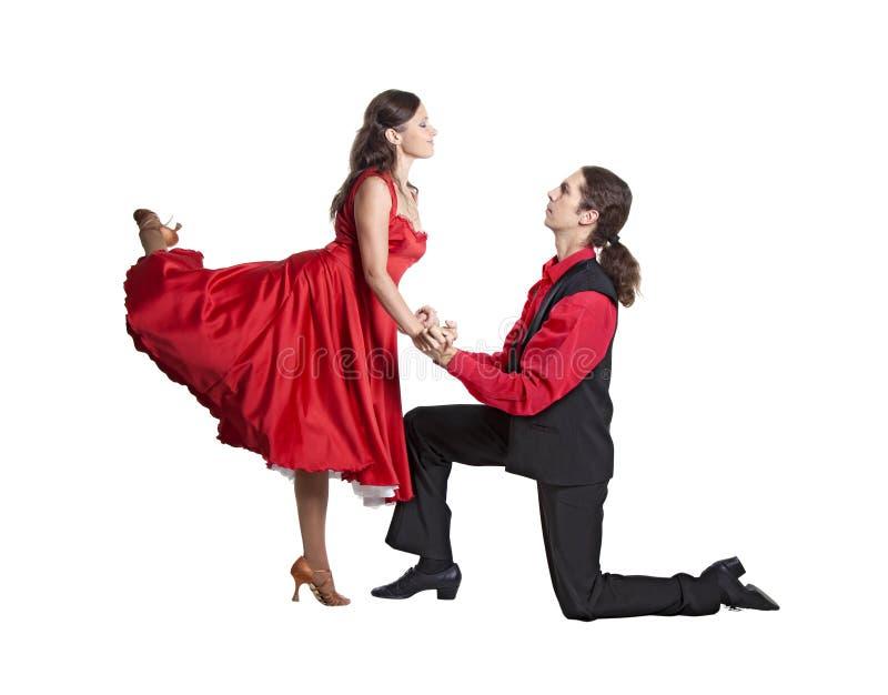 夫妇跳舞摇摆 库存图片