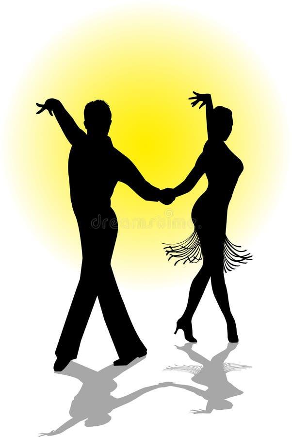 夫妇跳舞 库存例证