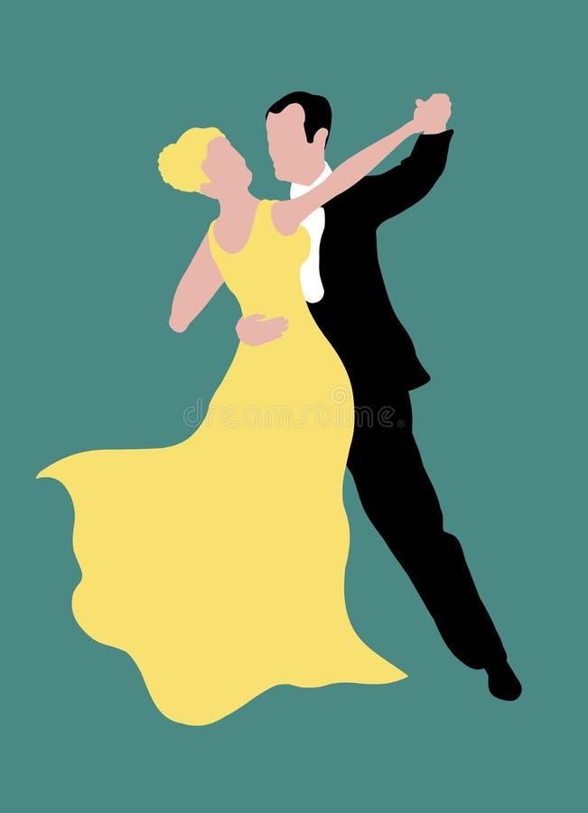 夫妇跳舞 向量例证