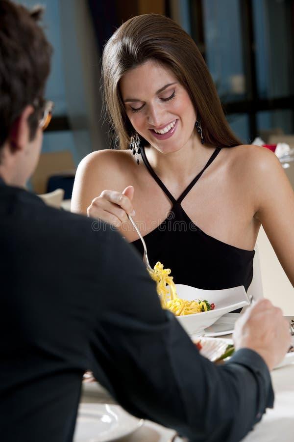 夫妇餐馆 免版税图库摄影