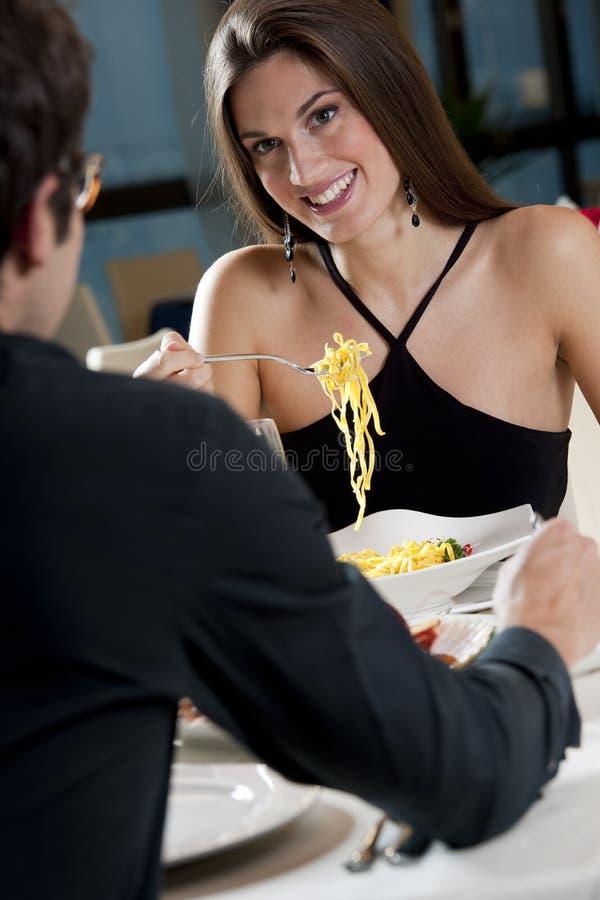 夫妇餐馆 库存图片