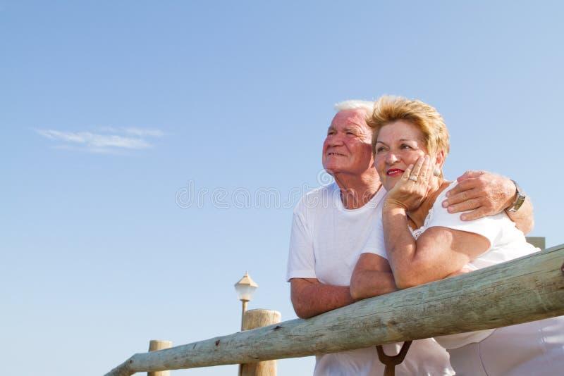 夫妇高级周道 免版税库存图片