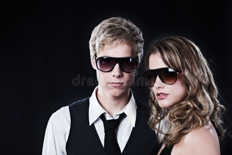 夫妇魅力太阳镜 库存图片