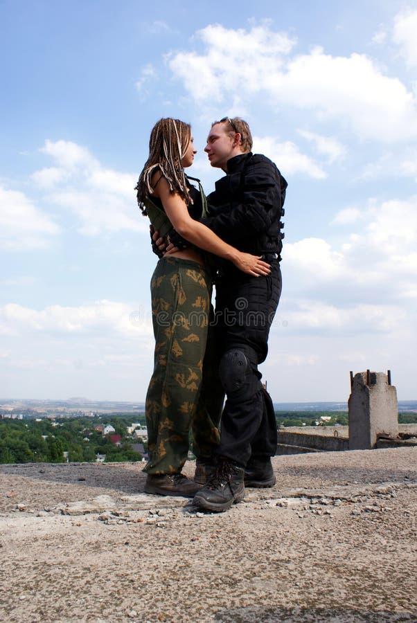 夫妇画象在爱的 免版税库存图片