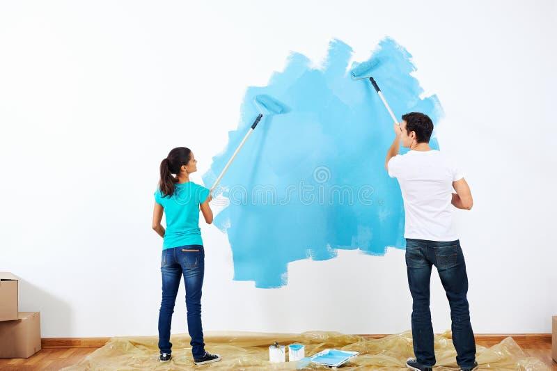 绘画夫妇 免版税库存图片