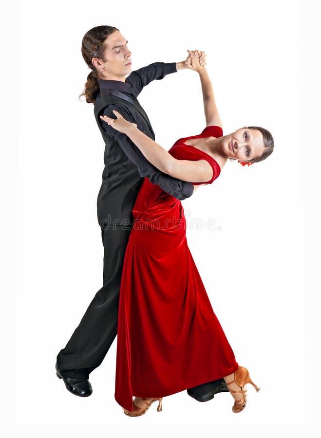 年轻夫妇dancint华尔兹 库存照片
