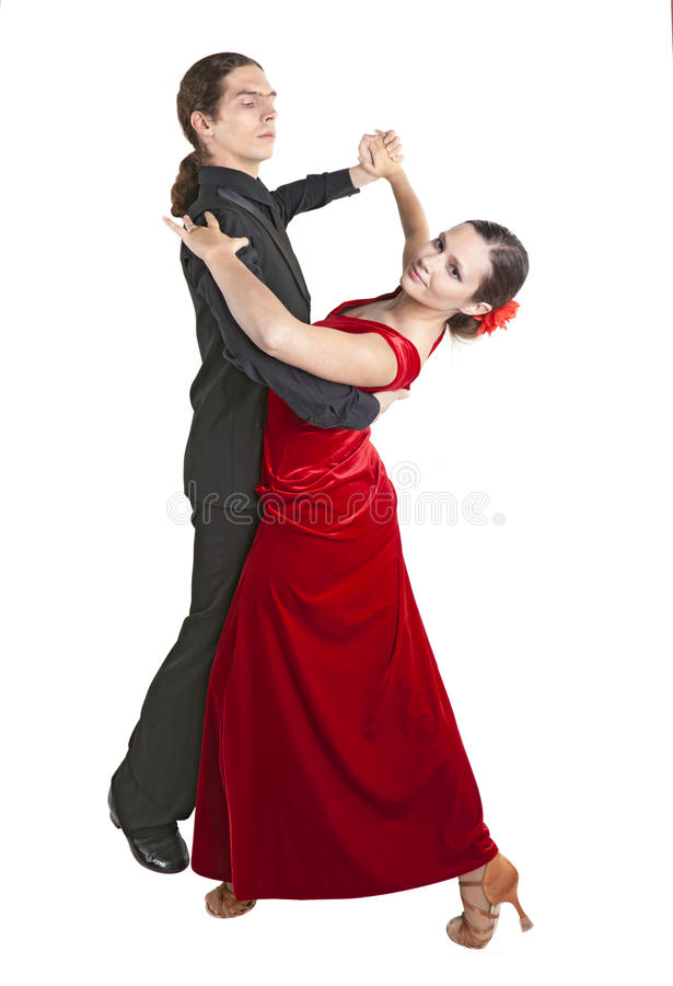 年轻夫妇dancint华尔兹 图库摄影