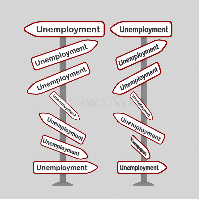 失业信号 库存例证