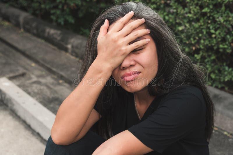 失业的妇女 免版税库存照片