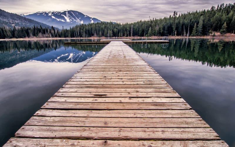 失去的湖码头 库存照片