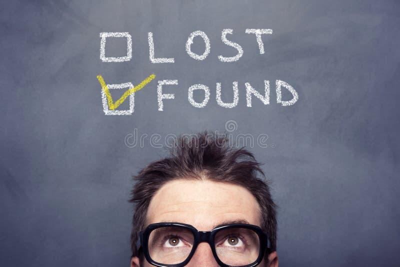失去的被找到的概念 库存照片