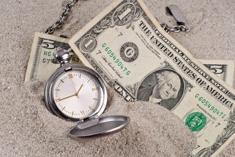 失去的货币时间 库存照片