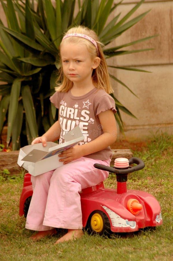失望的女孩一点 免版税库存照片