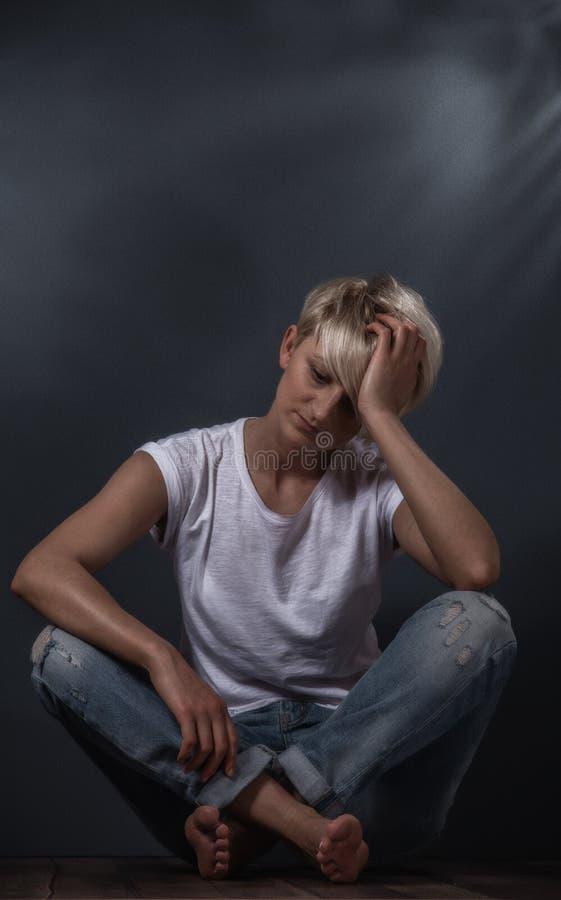 失望的妇女 免版税图库摄影