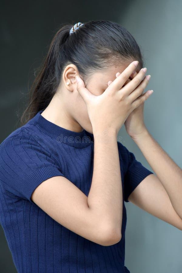失望的美好的少数少年女性 库存图片