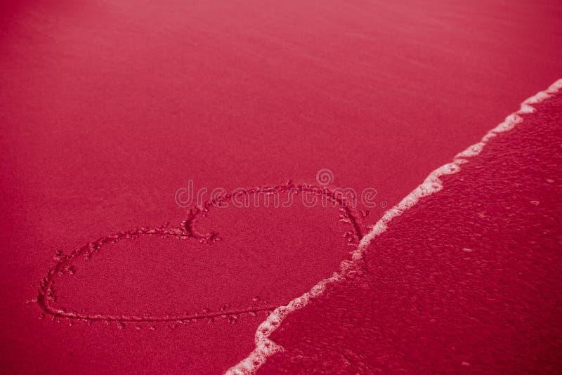 失真或易碎/逃亡/短暂爱的概念:心脏 图库摄影