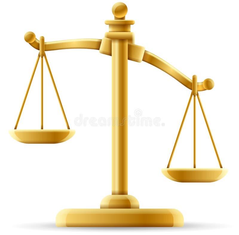 失衡的正义标度 皇族释放例证