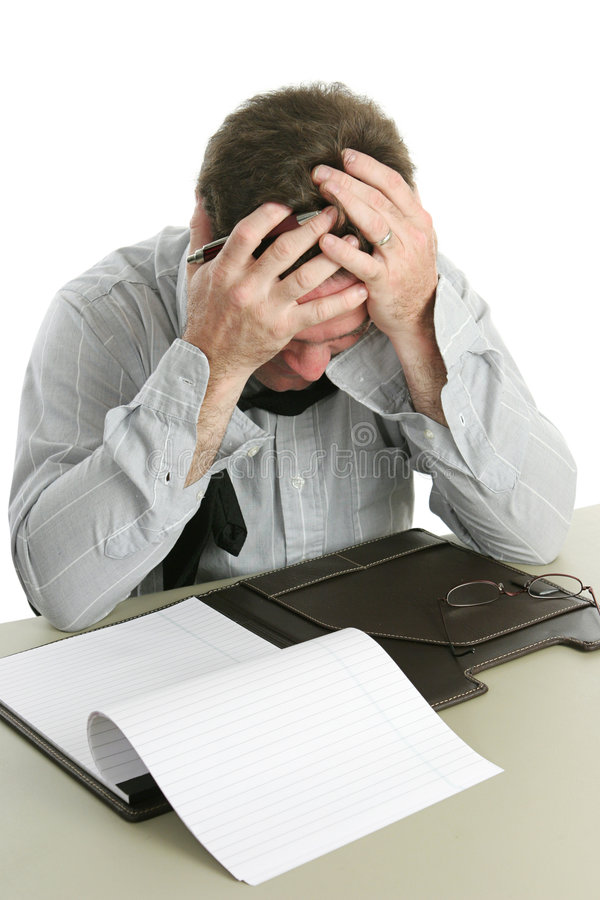 失败办公室工作者 免版税库存照片
