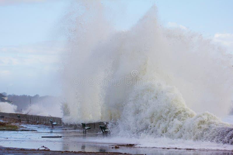 失败在Narragansett城镇海滩的通知 免版税图库摄影