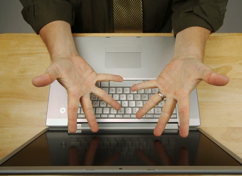 失败膝上型计算机 免版税库存照片