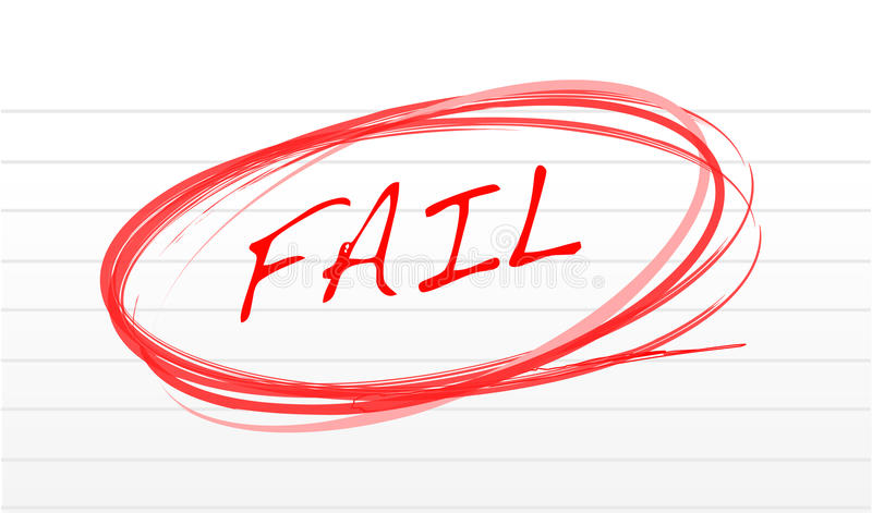 失败 库存例证
