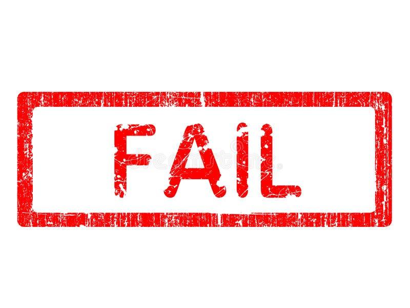 失败grunge办公室印花税 向量例证