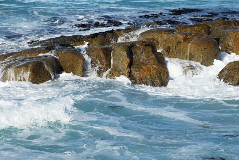 失败在岩石的通知 库存照片