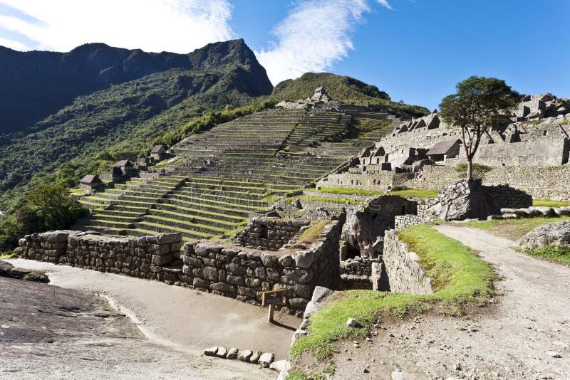失去的印加人城市马丘比丘的废墟在秘鲁-南美 库存图片