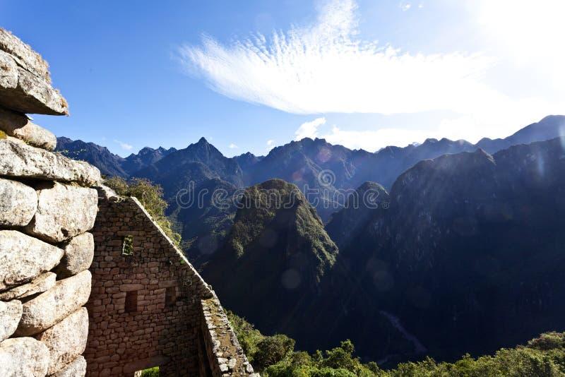 失去的印加人城市马丘比丘的废墟在秘鲁-南美 免版税图库摄影