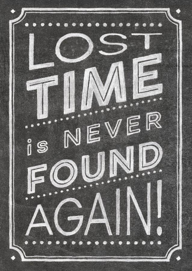 失去的时间海报 库存图片