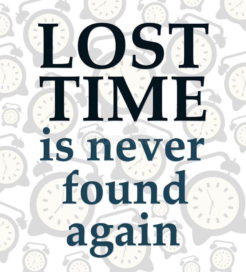 失去的时间 库存例证