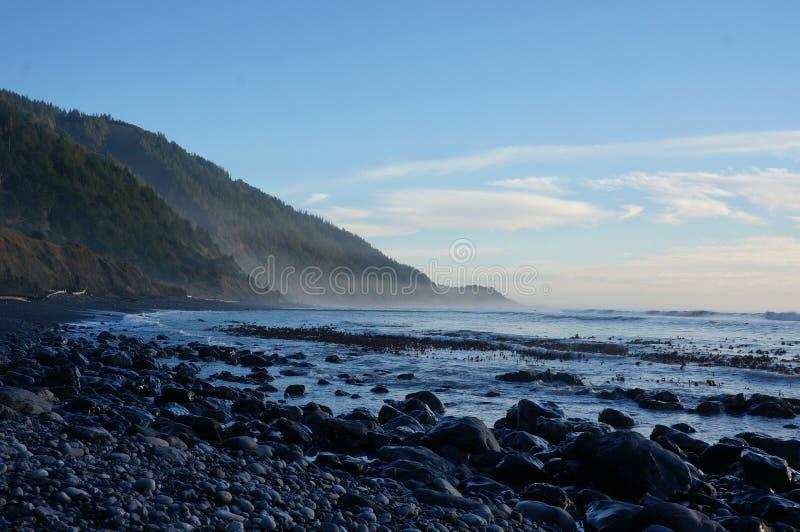 失去的海岸足迹 图库摄影