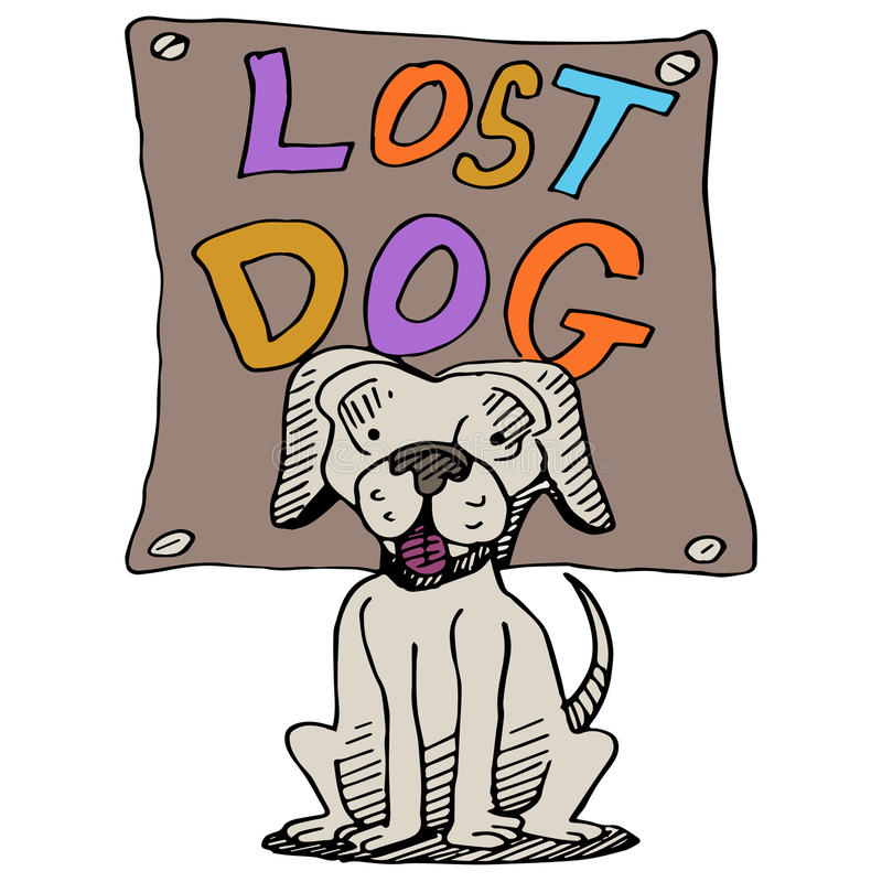 失去的狗 皇族释放例证