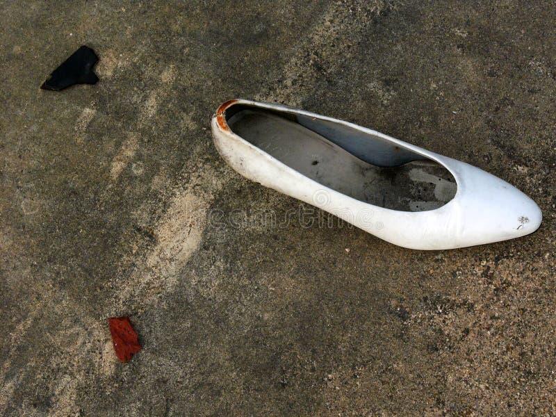 失去的鞋子 库存图片