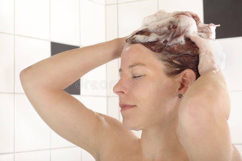 头发洗涤 库存图片