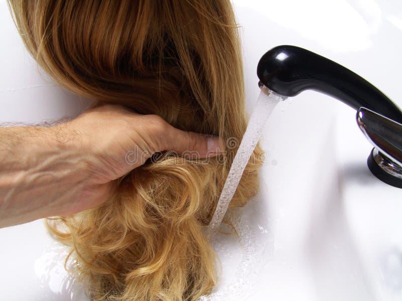 头发洗涤 图库摄影