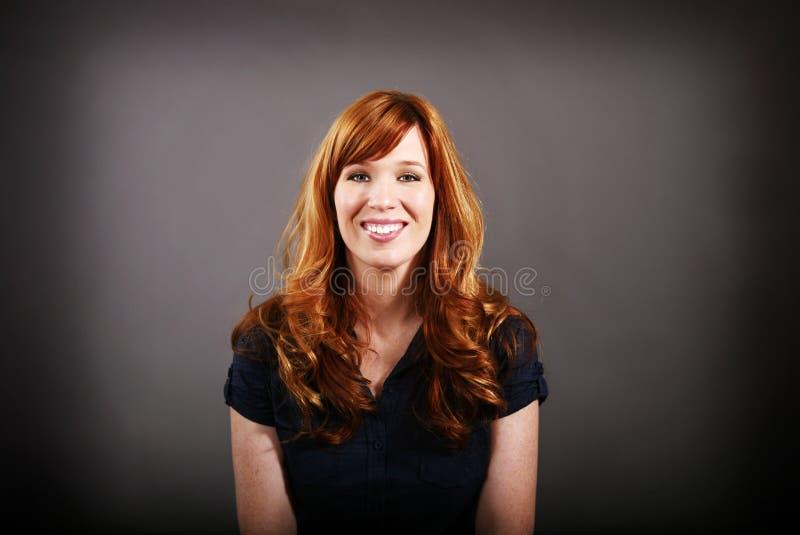 头发的纵向红色 免版税库存照片