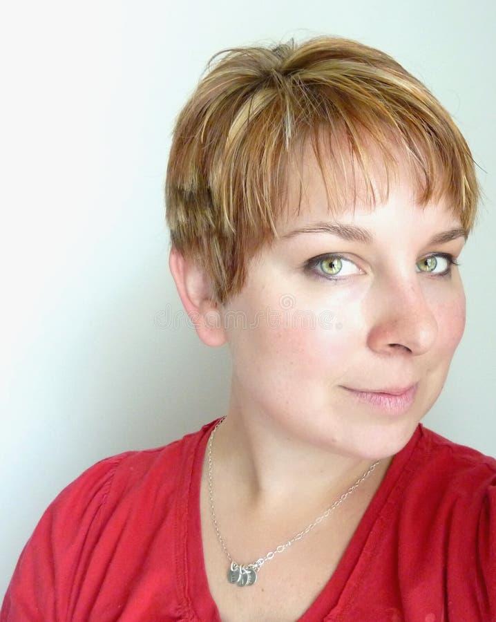 头发短的样式 免版税库存图片