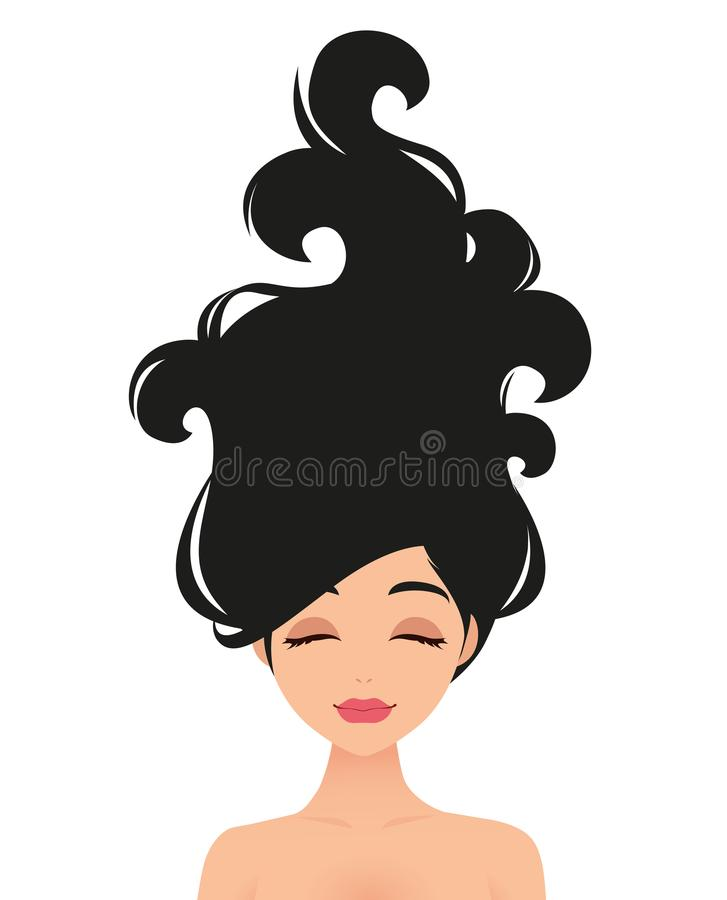头发秀丽 向量 库存例证