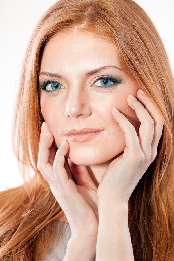 头发红色妇女 免版税库存图片