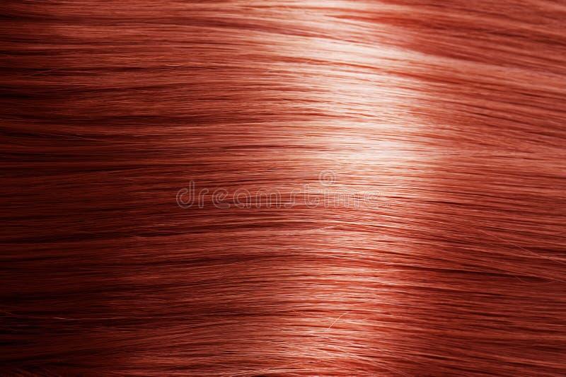 头发红色纹理 免版税图库摄影