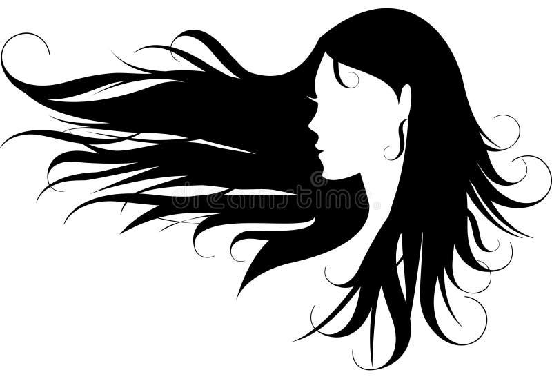 头发 向量例证