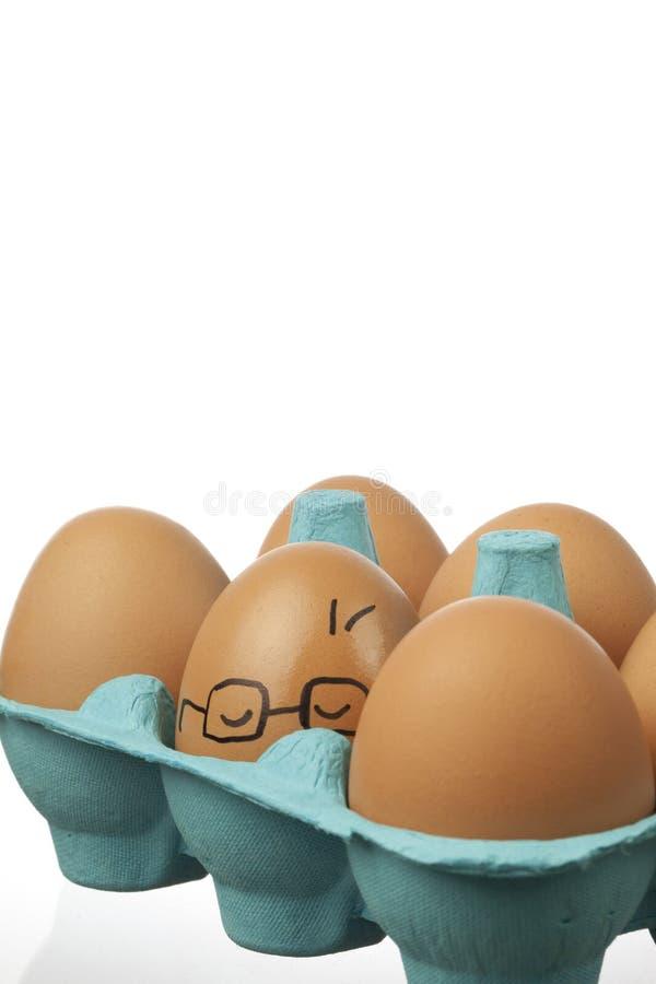 头昏眼花的鸡蛋 图库摄影