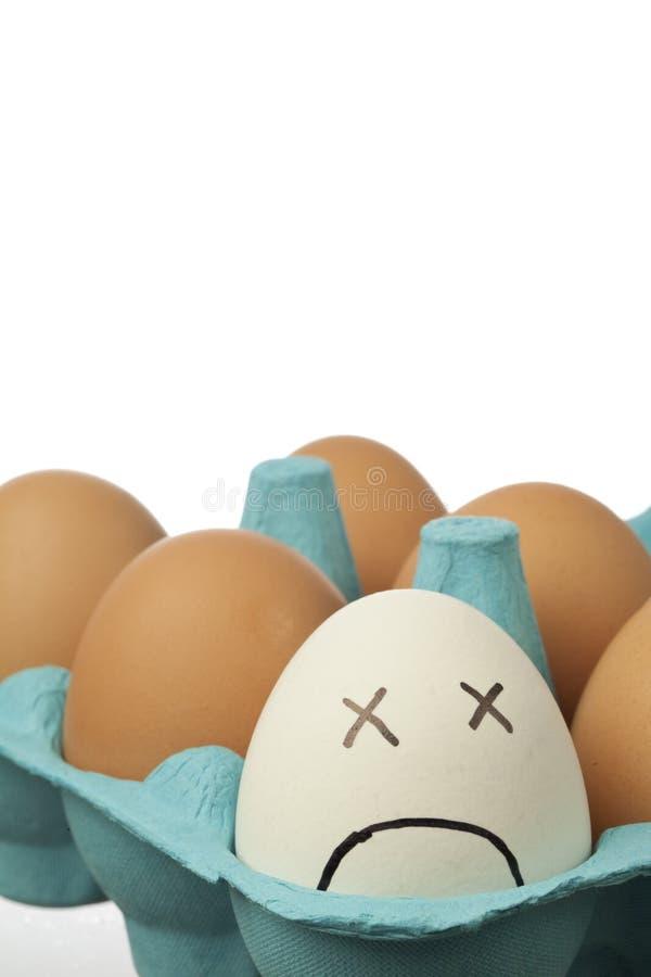 头昏眼花的鸡蛋 免版税库存照片
