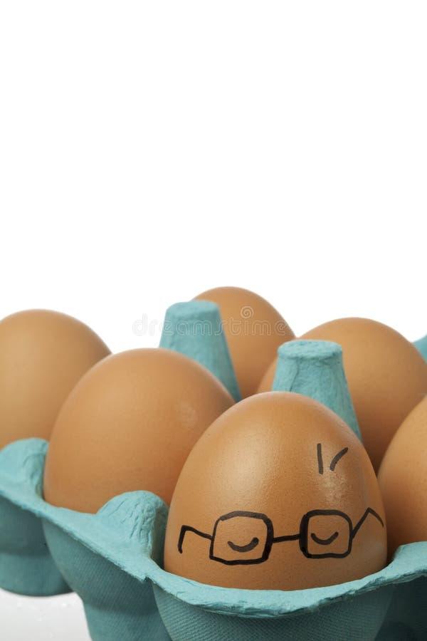 头昏眼花的鸡蛋 库存照片