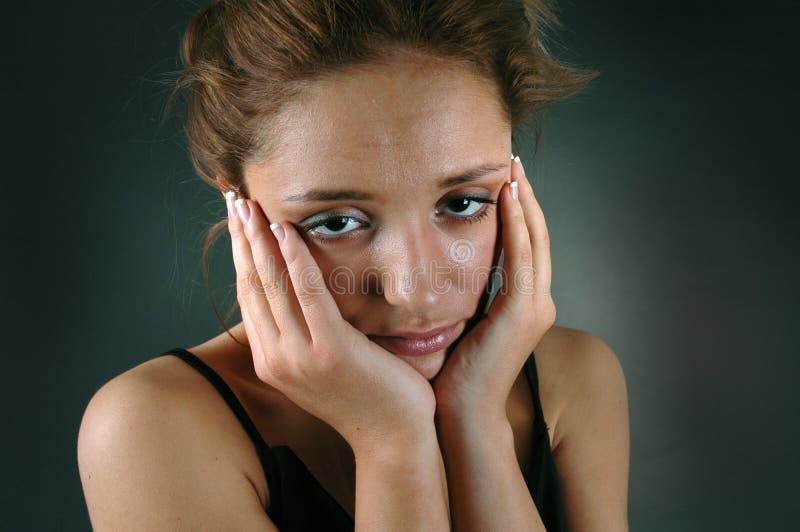 头疼妇女年轻人 库存图片