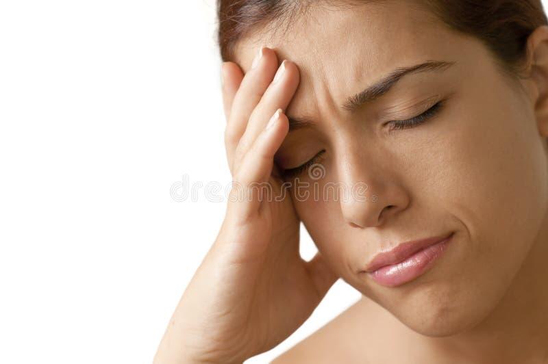 头疼痛处 图库摄影