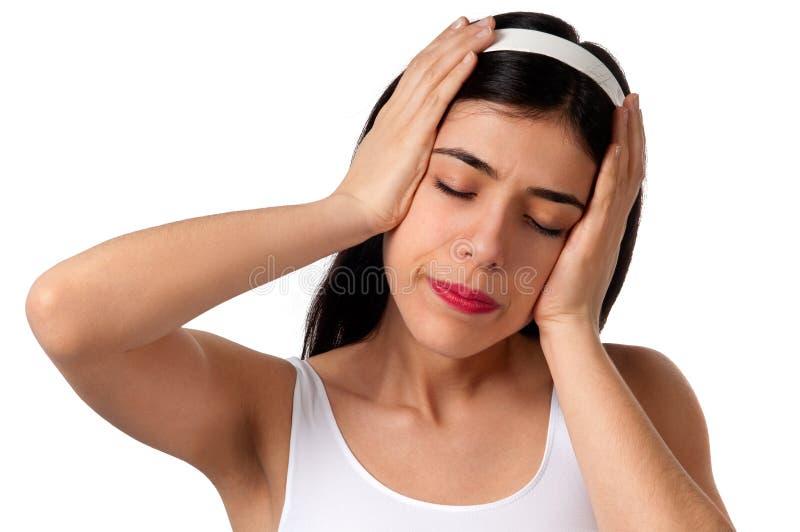 头疼痛苦 库存图片
