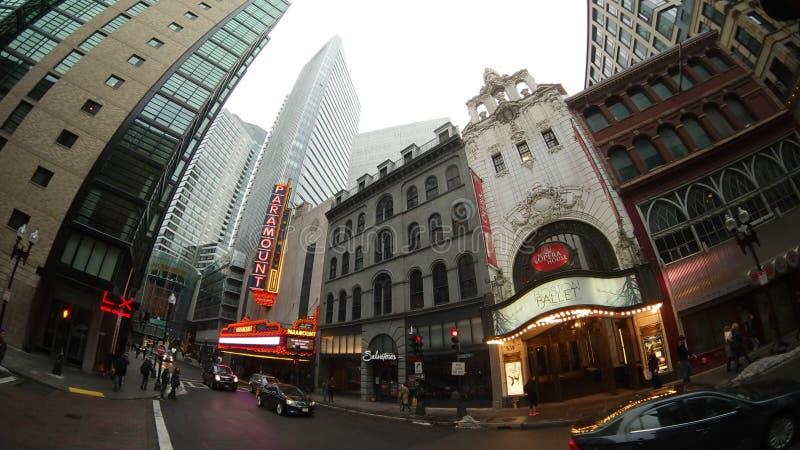 头等剧院,波士顿歌剧院,市区,城市,路,镇 免版税库存照片