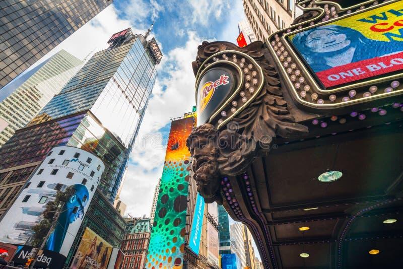 头等大厦,1501百老汇,时报广场,NYC 免版税库存图片